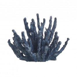 CORAL BEACH Dekorační korál 13 cm - modrá