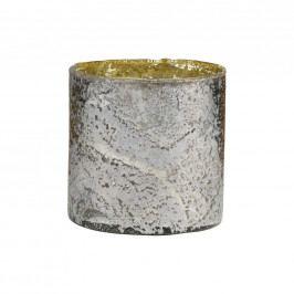 DELIGHT Skleněný votivní svícen 10 cm - stříbrná
