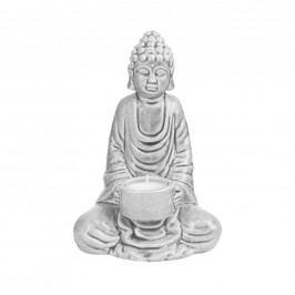 BUDDHA Soška na čajovou svíčku - šedá