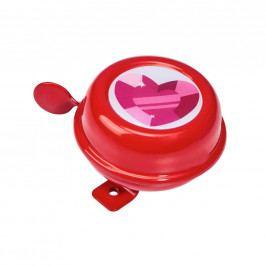 DING DONG Zvonek na kolo srdce 6 cm - růžová