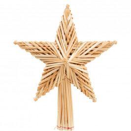 HANG ON Ozdoba hvězda ze slámy špička