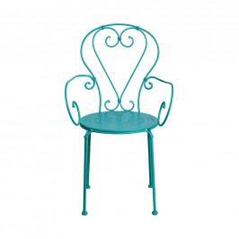 CENTURY Židle s područkami - petrolejová