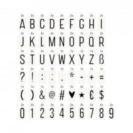 BLOCKBUSTER Set extra písmen a symbolů pro světelný box A4