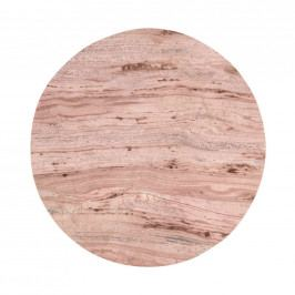 MARBLE Mramorový tác 30 cm - růžová
