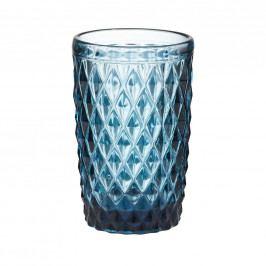 MONT FLEURI Sklenice trojúhelník 330 ml - modrá