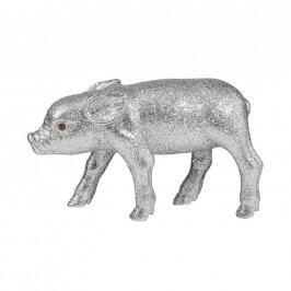 PIGGY Prasátko se třpytkami 20 cm - stříbrná