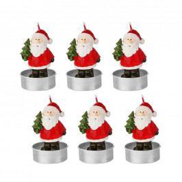 FLAMBEAU Svíčka čajová Santa 6 ks - červená