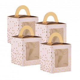 CELEBRATION Box na cupcake, set 4 ks