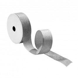 RIBBON Dárková stuha se třpytkami - stříbrná