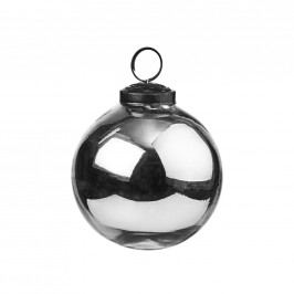 HANG ON Ozdoba koule 7,5 cm - stříbrná