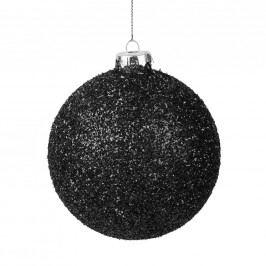HANG ON Ozdoba koule se třpytkami 10 cm - černá