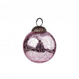 HANG ON Ozdoba koule popraskaná 8 cm - sv. růžová