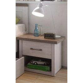 Sconto Noční stolek PARVATI pinie bílá/dub truffel