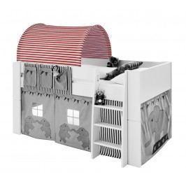 Sconto Textilní tunel FOR KIDS červeno-bílé proužky