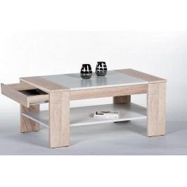 Sconto Konferenční stolek FINLEY PLUS dub sonoma/bílá