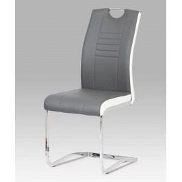 Sconto Jídelní židle ASHLEY bílo-šedá
