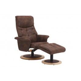 Relaxační křeslo s taburetem FM 416 VINTAGE