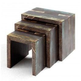Přístavné stolky - set 3 ks GOA 3528
