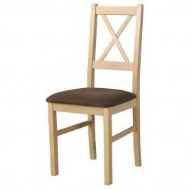 Sconto Jídelní židle NILA 10 hnědá/dub sonoma
