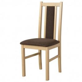 Sconto Jídelní židle BOLS 14 hnědá/dub sonoma