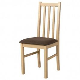 Sconto Jídelní židle BOLS 10 hnědá/dub sonoma