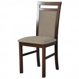 Sconto Jídelní židle MILAN 5 hnědá/světle hnědá