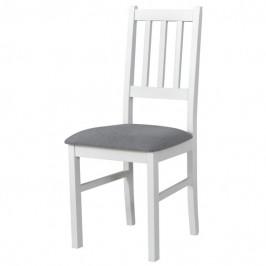 Sconto Jídelní židle BOLS bílá/šedá