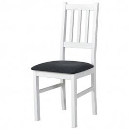 Sconto Jídelní židle BOLS tmavě šedá/bílá