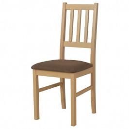 Sconto Jídelní židle BOLS dub sonoma/hnědá