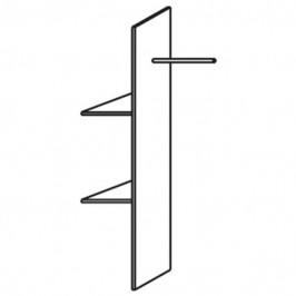 Sconto Vnitřní rozdělovač skříně PACK´S 2 police, šatní tyč