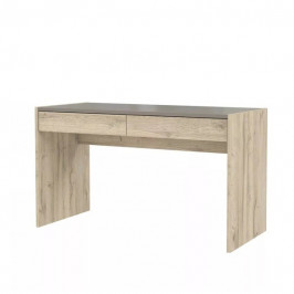 Sconto Psací stůl MALAKKA dub bianco/čedič