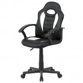 Sconto Kancelářská židle FRODO černobílá