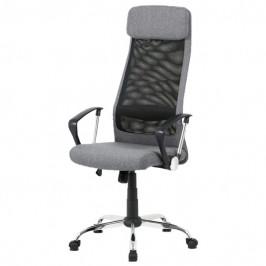 Sconto Kancelářská židle EDISON šedá