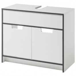 Sconto Umyvadlová skříňka NEWPORT bílá/antracitová