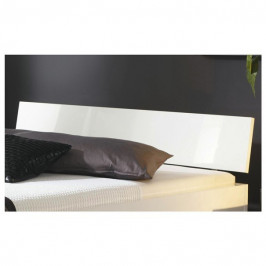 Sconto Čelo postele ARIZONA bílá vysoký lesk, šířka 185 cm
