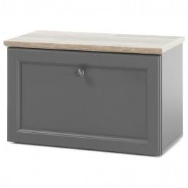 Sconto Botníková lavice TOSKANA šedá/timber wood