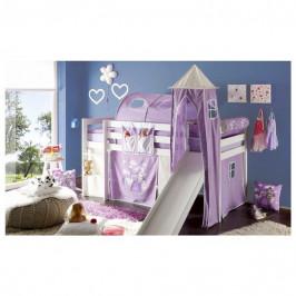 Sconto Týlní polštář k posteli ARNIKA KŮŇ A PRINCEZNA lila/bílá