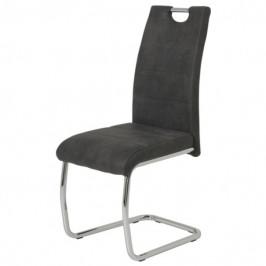 Sconto Jídelní židle FLORA II S antracitová