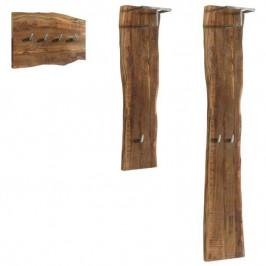 Sconto Set nástěnných věšáků GURU FOREST akácie/kov