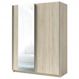 Sconto Šatní skříň se zrcadlem SPLIT dub sonoma, šířka 180 cm