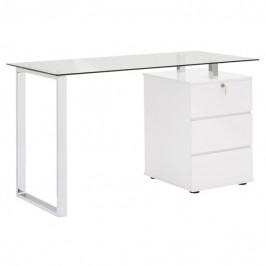 Sconto Psací stůl XINGU kov/bílá
