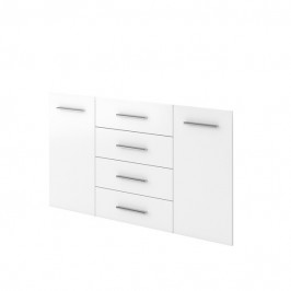 Sconto Dveře a zásuvky BORDO 6 kusů, bílá vysoký lesk