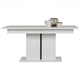 Sconto Jídelní stůl IVONA bílá vysoký lesk, rozkládací 160-200 cm