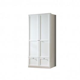 Sconto Šatní skříň VANNES bílá, 2-dvéřová/2 zásuvky