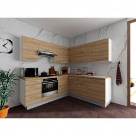 Sconto Rohová kuchyňská sestava FACHMAN B5, 217x217 cm dub sonoma