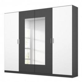 Sconto Šatní skříň BROOKE alpská bílá/šedá, šířka 226 cm