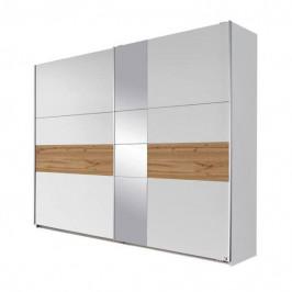 Sconto Šatní skříň CADENCE bílá/dub wotan, šířka 261 cm