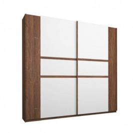 Sconto Šatní skříň GABRIELLE dub stirling/alpská bílá, šířka 181 cm