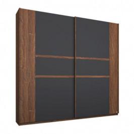 Sconto Šatní skříň GABRIELLE dub stirling/šedá, šířka 181 cm