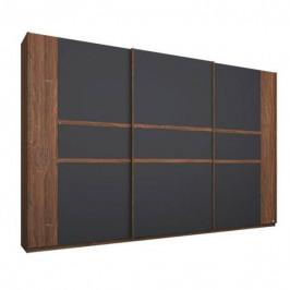 Sconto Šatní skříň GABRIELLE dub stirling/šedá, šířka 271 cm